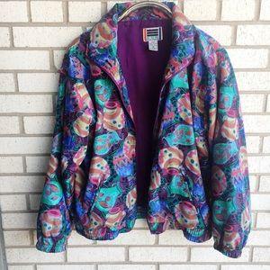 Vintage EVR Windbreaker Jacket Colorful M